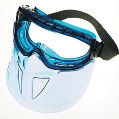 Kimberly-Clark Jackson Safety* 18629 V90 Shield* Safety Goggles Shield*, Clear Anti-Fog with Blue Frame