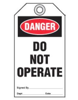 Idesco Safety DANGER Tag